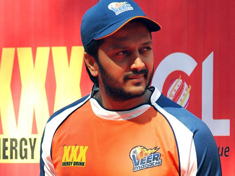 Ritesh Deshmukh poses for a photograph during the Celebrity Cricket League (CCL) season five in Mumbai on January 10, 2015. (AFP Photo)