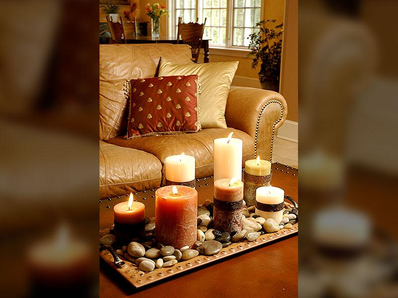 Home fragrance: It can help to create a warm atmosphere. Try choosing woody aroma for diffusers. Scented candles can help in warming a room. Scented sticks in fragrances of cinnamon, rosewood and sandalwood are soothing and are the best inviting aromas.