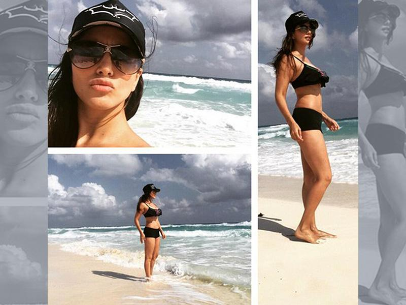 Sunny Leone shows off her toned frame as she vacations in Mexico with her family. (Courtesy: Twitter)