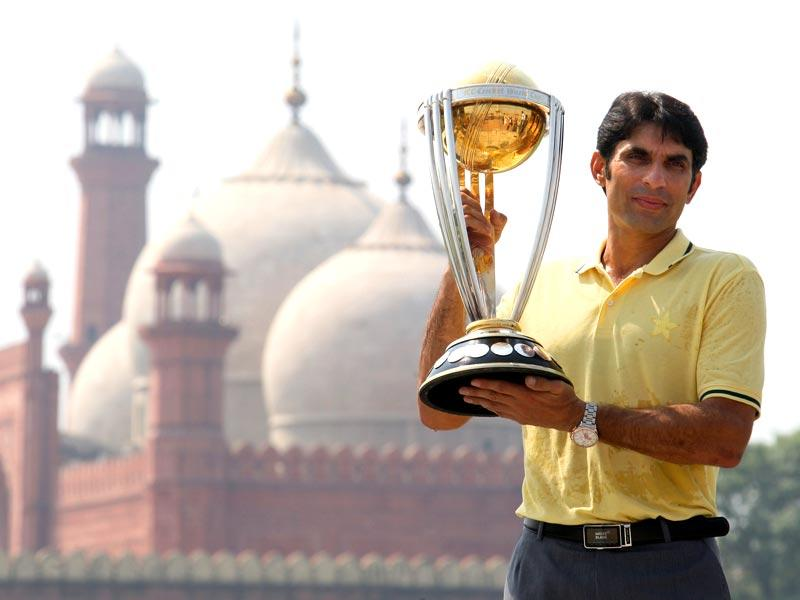 Pakistan will be lead by their 40 year old middle order fulcrum, Misbah-ul-Haq. The mercurial boys in green will hope for a encore of the 1992 tournament.(AP Photo)