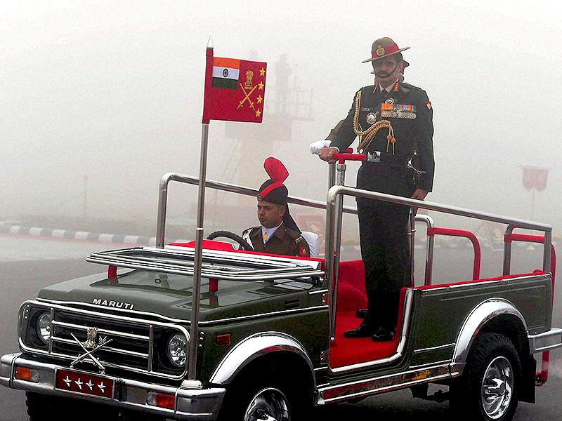 Army chief general Dalbir Singh Suhag during the Army Day parade in New Delhi. (PTI photo)