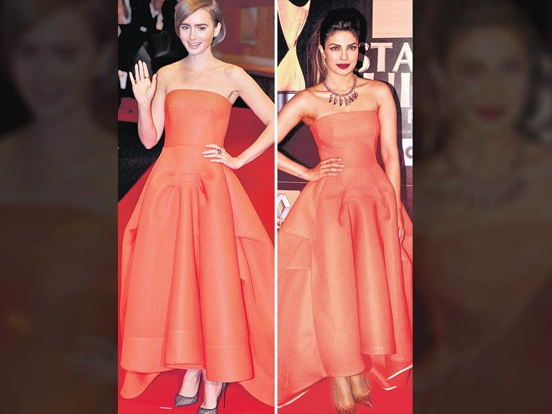 Understated victory: A fiery shade of orange is not an easy colour to carry off. And we admit, actor Priyanka Chopra did do a good job of it. But, when it comes to really knocking it out of the park, we think this Toni Maticevski design was owned completely by Hollywood beauty, Lily Collins, who wore it last month. Even the runway outing where it was topped with a cover-up did not make much of an impact. Lily's clean beauty look and the polished bob offset the hue beautifully.