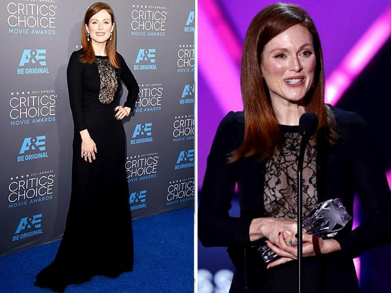 Still Alice star Julianne Moore delivering her award acceptance speech. She won the Best Actress Award. (Agencies)