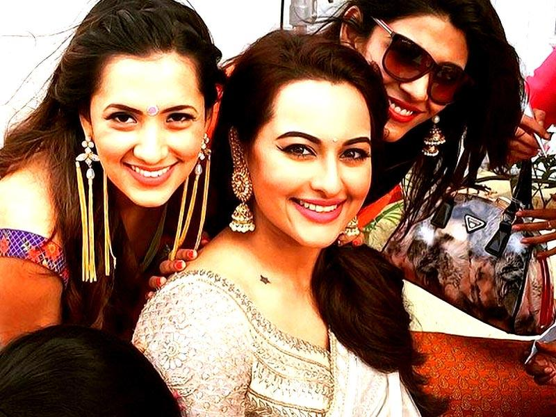 Sonakshi Sinha gets ready for functions for her brother Kush's wedding.