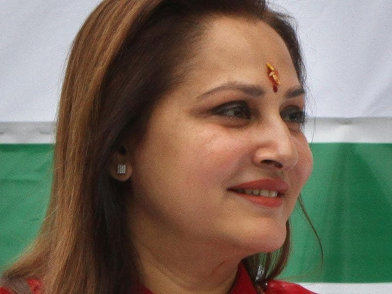 Jaya Prada, former film actor and ex-member of the Samajwadi Party, is another heavy weight who has expressed interest in joining the saffron party ahead of the key elections in the National Capital. (Arvind Yadav/HT Photo)