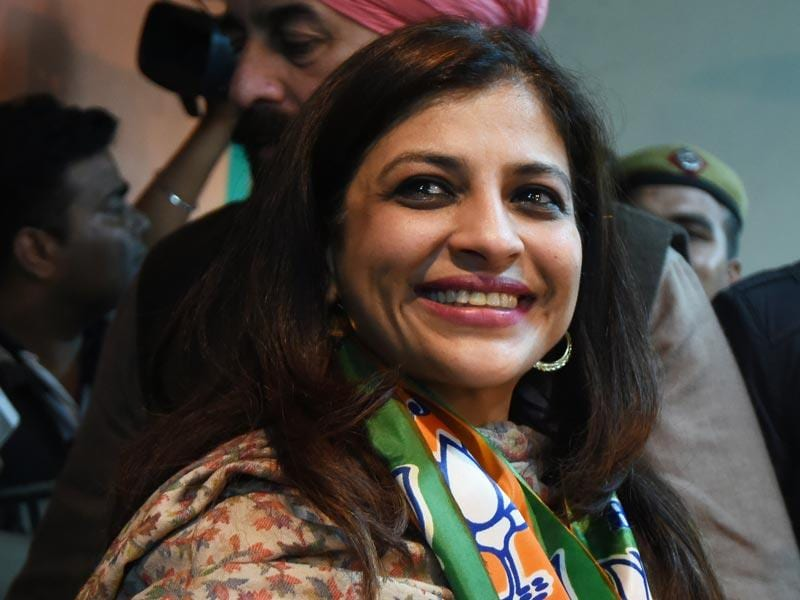 Shazia Ilmi was once a big name in the Aam Aadmi Party. But after a fallout with the rookie party's top brass, she joined the BJP ahead of the Delhi assembly elections slated for February 7. (Arvind Yadav/HT Photo)