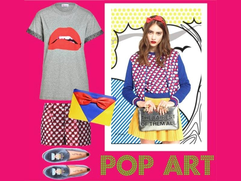 Pop art motifs have found their way to everything from luxe t-shirts to leggings. Check out these graphic fashion looks that embrace a sense of whimsy and individuality. (Photos: AFP | Text: Sanya Panwar)