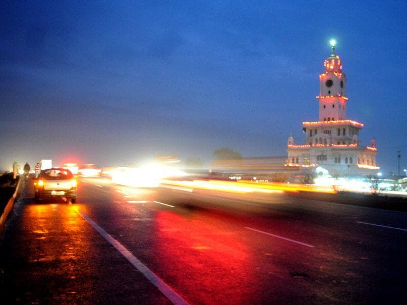 A beautiful evening view on Khanna-Ludhiana road after rainfall on Thursday. Bharat Bhushan/HT