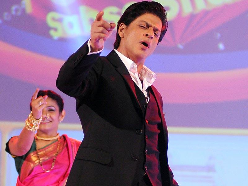 Oh yeah, like that! Shah Rukh Khan during the launch of the new Hindi general entertainment TV channel, &TV. (AFP Photo)