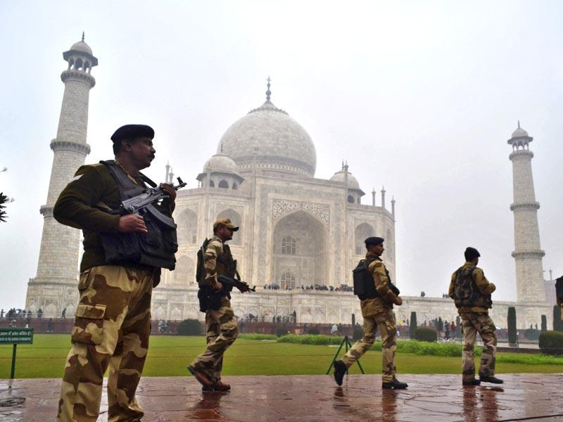 Security had been increased at the Taj Mahal for Obama's visit. (AP File Photo)