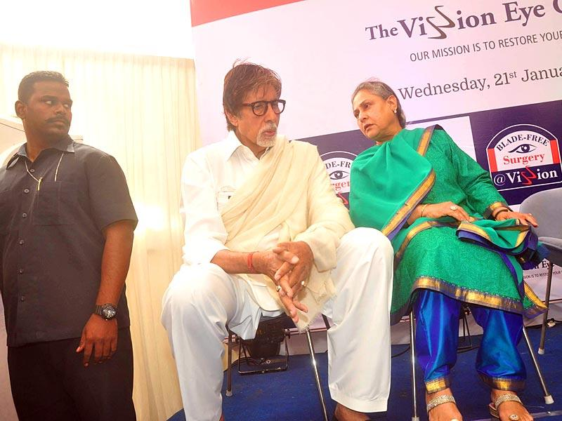 Jaya and Amitabh Bachchan were seen deep in discussion during the event. Amitabh then went on to attend yet another event in Mumbai. (IANS)