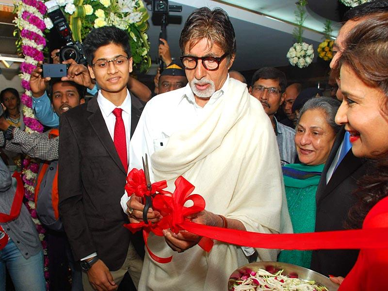 Yet another day, yet another ribbon cutting. When Big B is not shooting, he is attending events and launching products. (IANS)