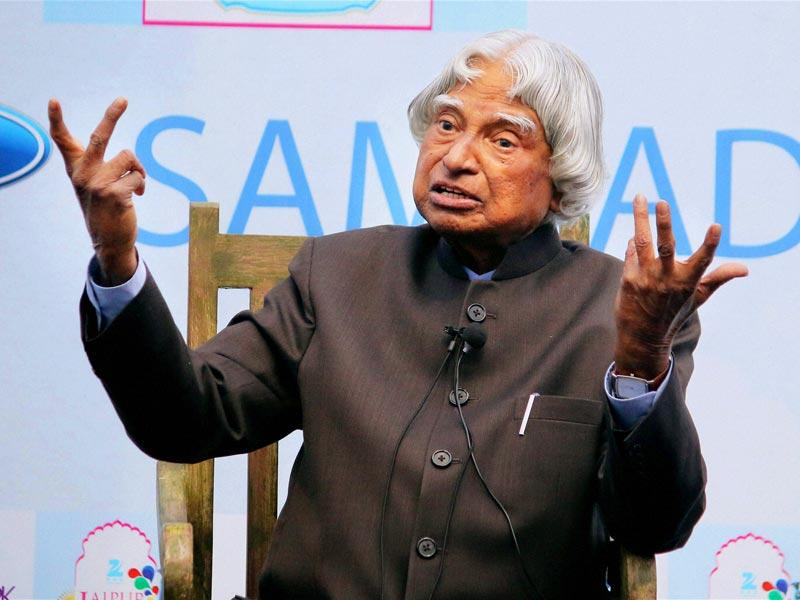 Former President AJP Abdul Kalam during the session 'Ignited Minds' at Jaipur Literature Festival at Diggi Palace. (Photo: PTI)