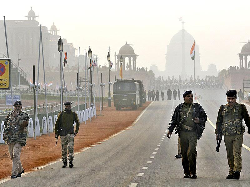 Security has been increased ahead of US President Barack Obama's visit to New Delhi. (Saumya Khandelwal/HT Photo)