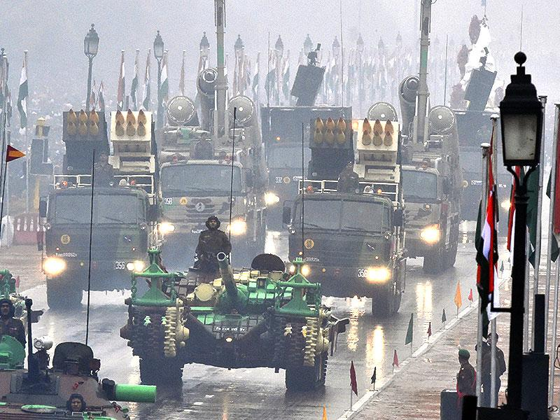 The armed forces displaying its military prowess during the Republic Day parade. (Sonu Mehta/ HT Photo)