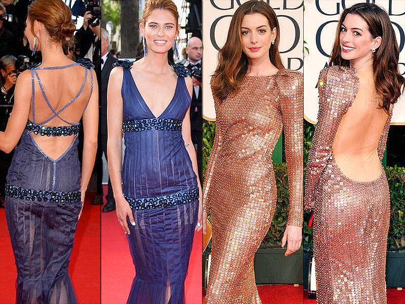 Going braless: Whether it's backless or has a deep, plunging neckline, many gowns require going braless or wearing pasties.