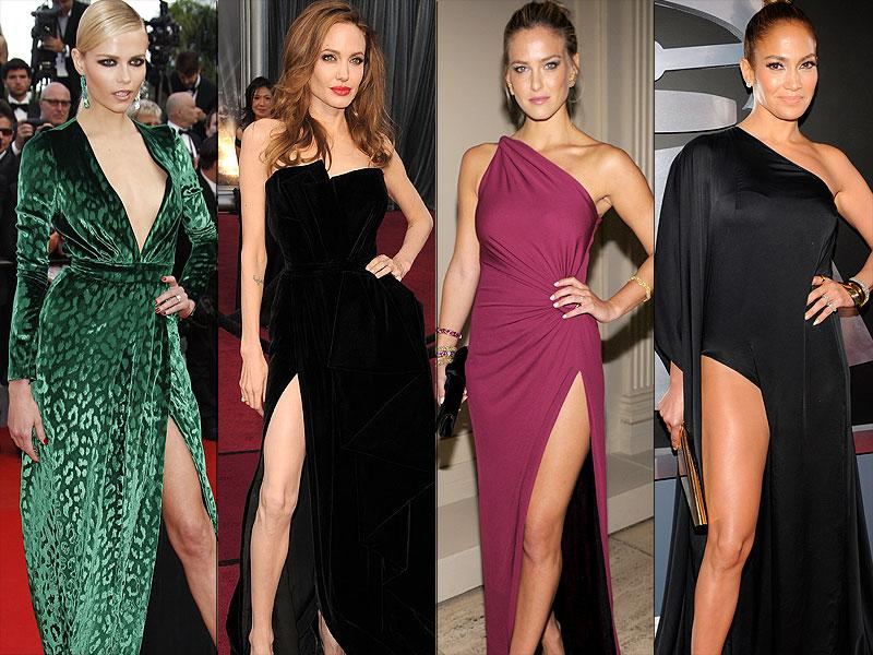 High slits: Designers are big fans of the high slit and so are Jennifer Lopez and Angelina Jolie's legs. After all, they ooze sex appeal.
