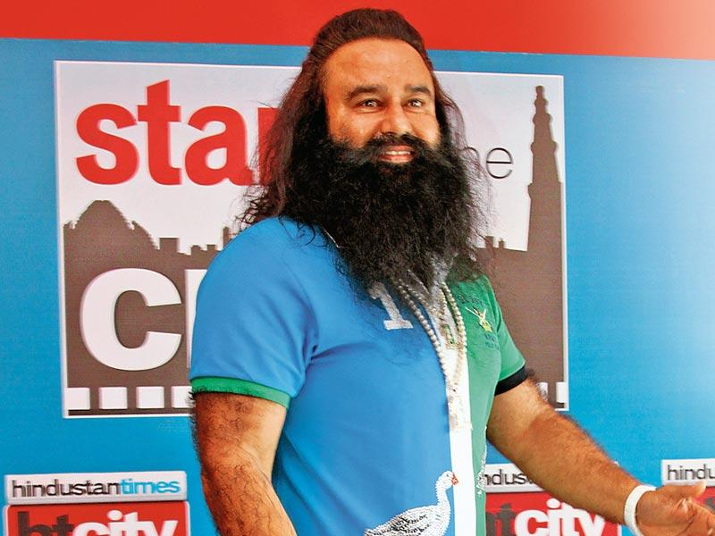 I buy T-shirts and then put glitter on them. Bas five-seven minutes mein design ho jaata hai: Gurmeet Ram Rahim Singh Insaan (Shivam Saxena/HT Photo)