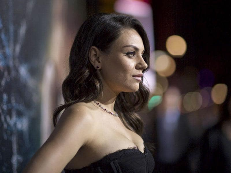 Black Swan actor Mila Kunis poses at the premiere of Jupiter Ascending at TCL Chinese Theatre.The movie releases on February 6.(Reuters)