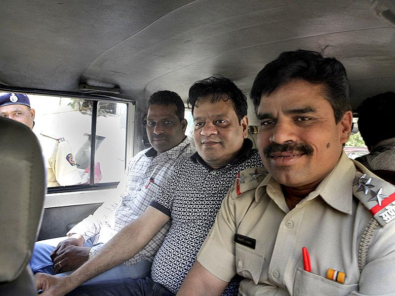 Underworld don Dawood Ibrahim's brother Iqbal Kaskar is seen outside the Sweri court in Mumbai. He was arrested on the charges of extortion and assault following a complaint by an estate agent. (Kalpak Pathak/HT photo)