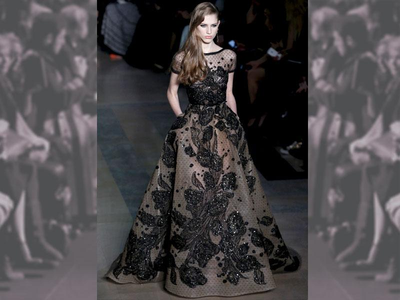 Sheer black beauty by red-carpet favourite Elie Saab