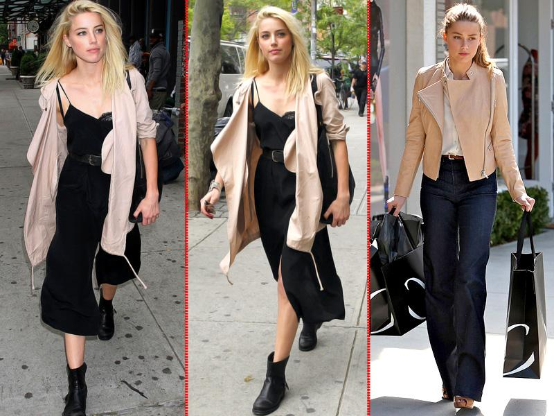Amber Heard inspired us to branch out with her gorgeous off-duty looks on the street in New York and LA (right)