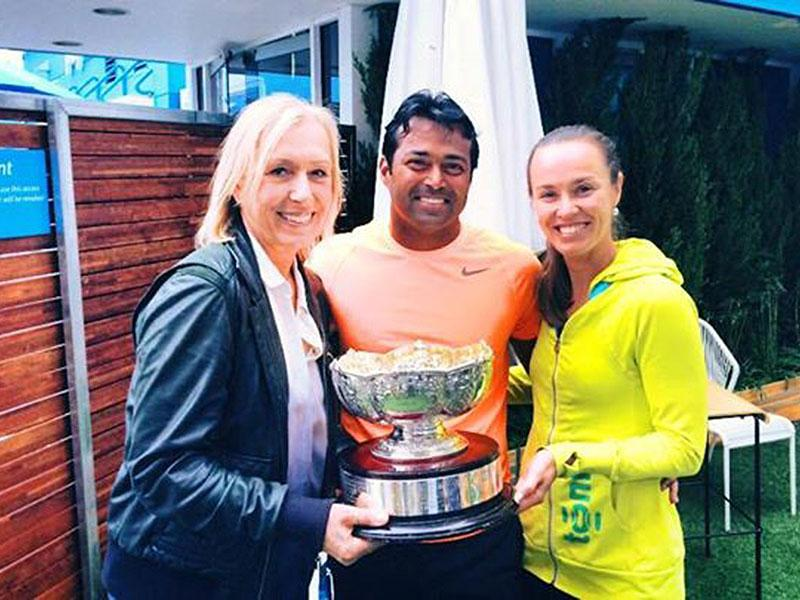 Leander Paes: To two of my best friends on and off the court ,Thanks for being my champions of life . Martina Hingis #martinanavratilova #facebooks11thbirthday #friendsday