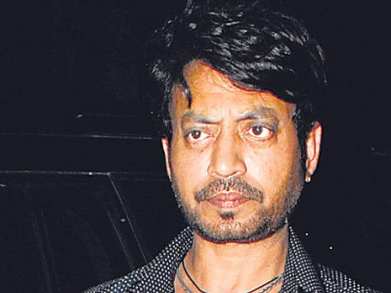 Actor Irrfan also turned up to watch the film. (HT photo)
