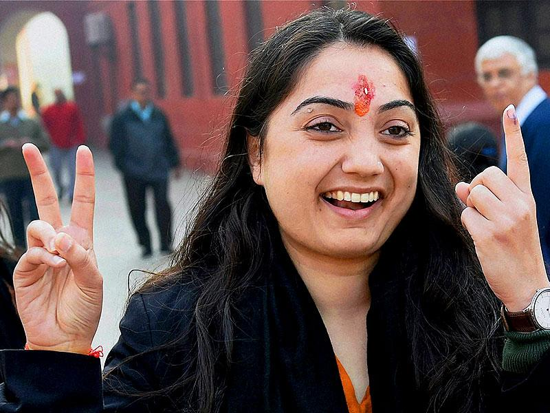 Nupur Sharma, the BJP candidate from New Delhi constituency, alleged on Saturday that her sister was roughed up by AAP workers. (PTI Photo)