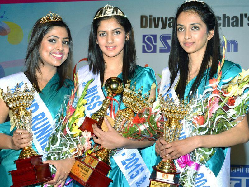 Winner of Miss Himachal Pageant 2015 in Tanda near Dharamsala. Shyam Sharma/HT