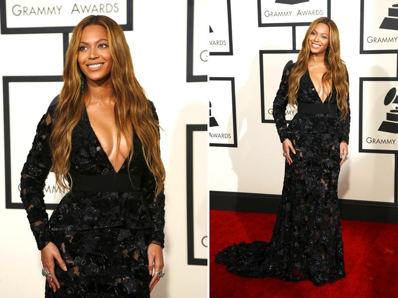 Singer and living music legend Beyonce arrives at the 57th annual Grammy Awards in Los Angeles. (Reuters)