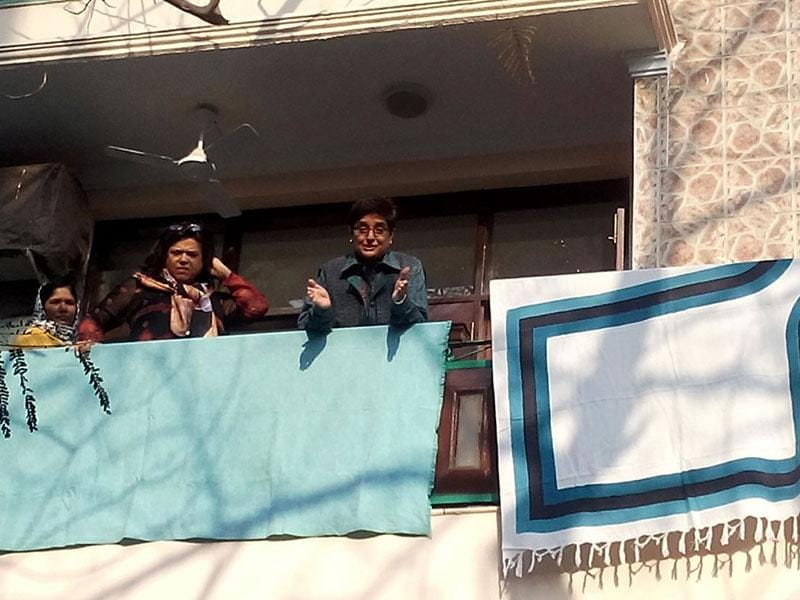 BJP leader Kiran Bedi at her residence on day of counting for Delhi Assembly Election, in New Delhi, India, on Tuesday, 10 Februray 2015. (Vipin Kumar/ HT Photo)