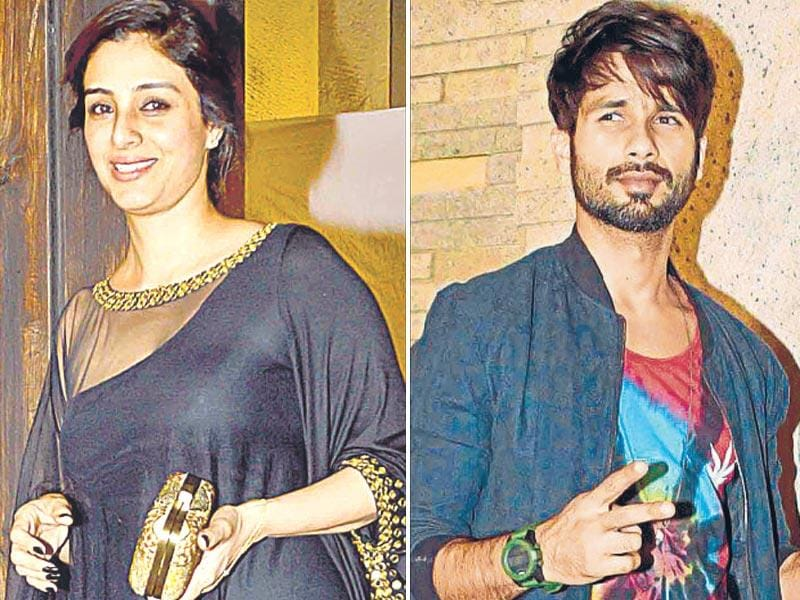 Shahid Kapoor and Tabu were seen in attendance.