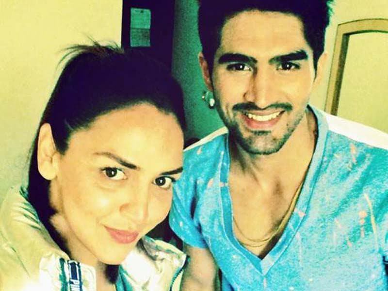 Roadies judges Esha Deol and Vijender Singh strike a pose.