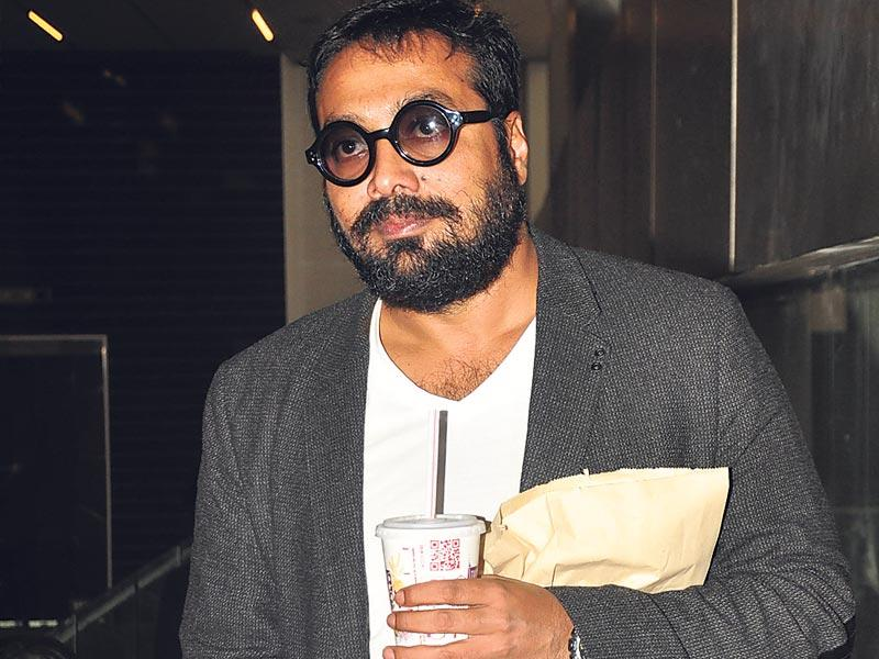 Anurag Kashyap was seen entering an event with his own refreshments. (Photo: Yogen Shah)