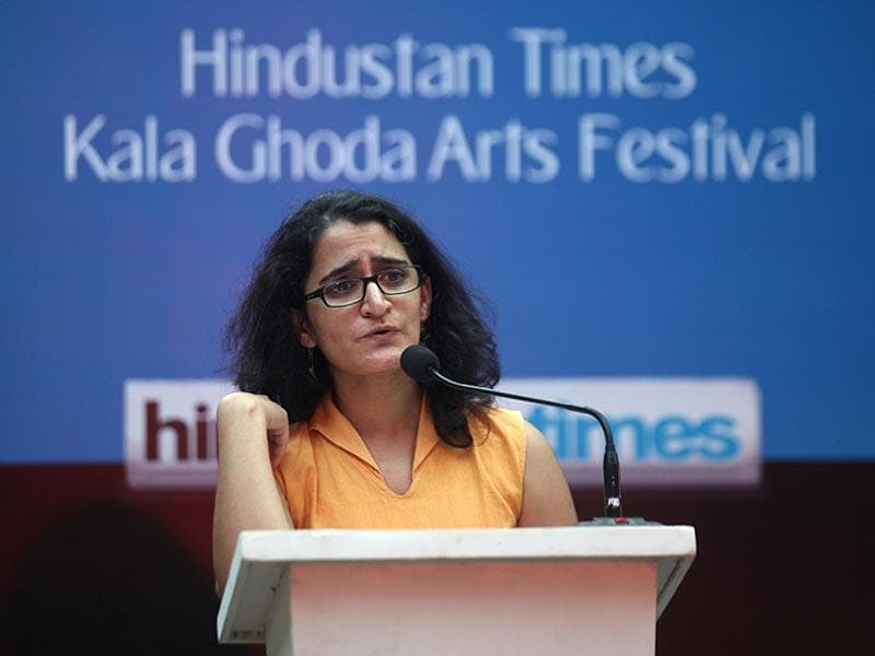 An evening of poetry with Aditi Rao at David Sassoon Library as a part of the HT Kala Ghoda Arts Festival in Mumbai. (Kunal Patil/HT Photo)