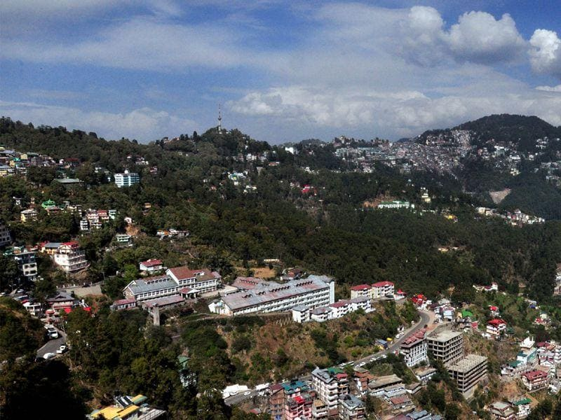 View of partially cloudy sky in Shimla. Santosh Rawat/HT