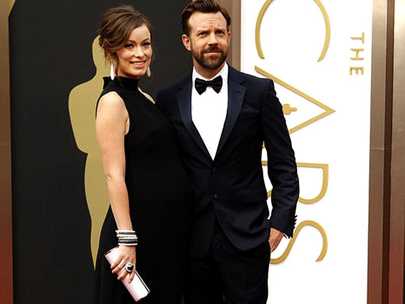 Olivia Wilde and Jason Sudeikis arrived at The Oscars in 2013