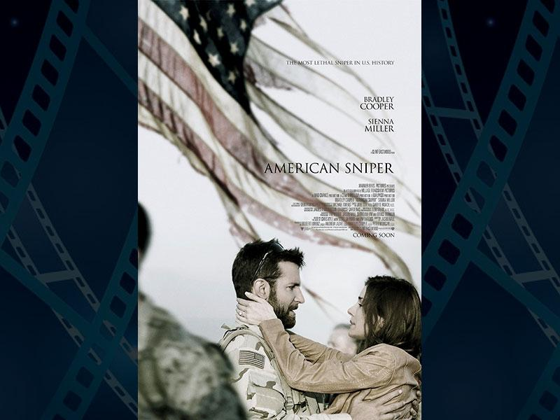 American Sniper, directed by Clint Eastwood and starring Bradley Cooper and Sienna Miller has 6 nominations. (Photo: IMDb)