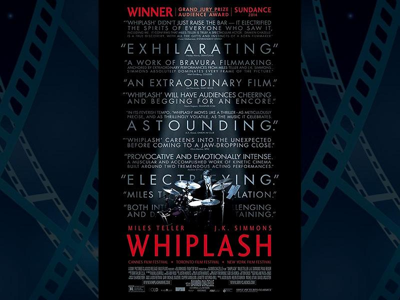 Whiplash, directed by Damien Chazelle and starring Miles Teller and JK Simmons is the underdog, tying with 5 nominations. (Photo: IMDb)