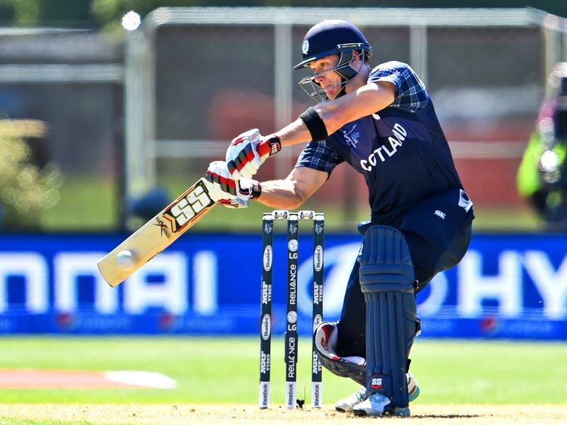Scotland batsman Richie Berrington also scored a fifty and ensured that Scotland reached a respetable total. (AFP Photo)