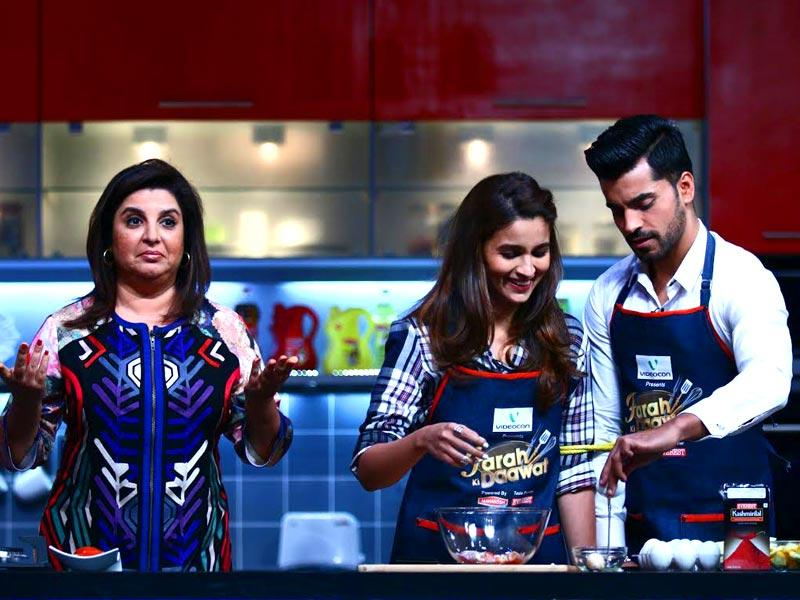 Alia Bhatt and Gautam Gulati impressed Farah Khan with their cooking on the sets of a TV show for the director-turned host.