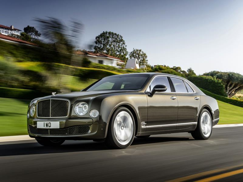 The Bentley Mulsanne Speed 5.58m : The Mulsanne's body shape is so complex that it has to be partially hand formed and hand finished. And while it's not as spacious as a Rolls or a Pullman, the Speed version is faster than either, capable of 0-100kph in under 5 seconds. : Photo:AFP