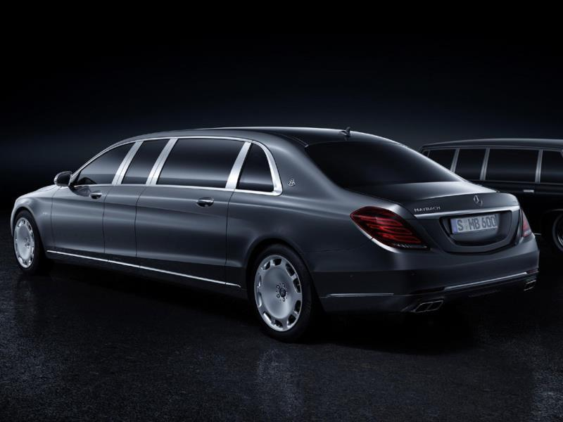 The Mercedes-Maybach Pullman 6.5m : Despite being well over 6 meters in length, the Pullman can be specified with just two rear seats and the options list includes full armor plating. Photo:AFP