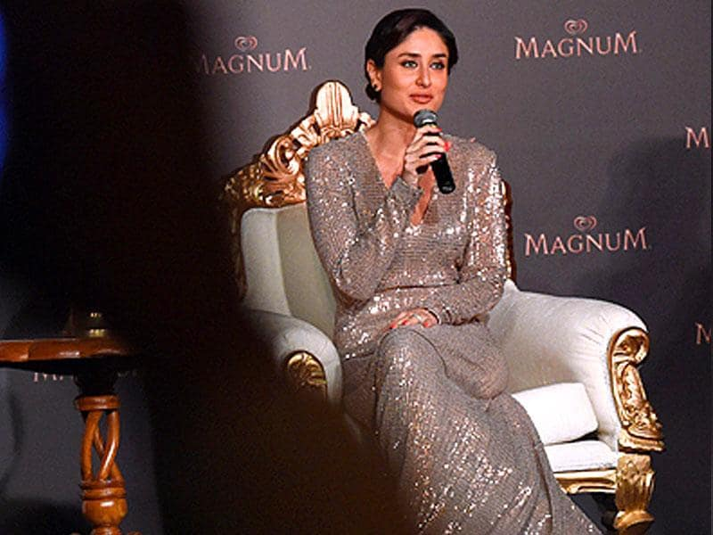 Kareena Kapoor Khan at the launch of an ice-cream in New Delhi. (PTI)