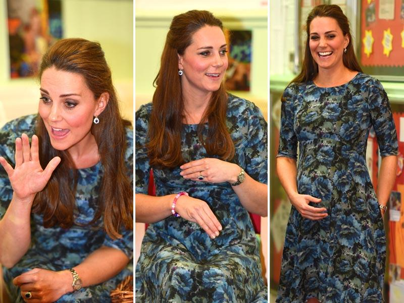 Duchess of Cambridge, Kate Middleton during her visit to Cape Hill Children's Centre in England in February, 2015. (AP)