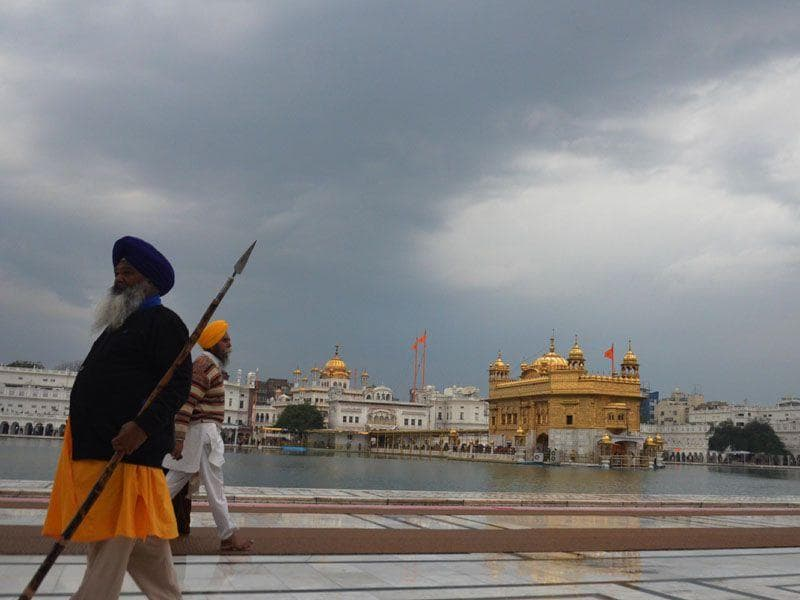 A beautiful view of the Golden Temple on a cloudy day in Amritsar. Sameer Sehgal/HT