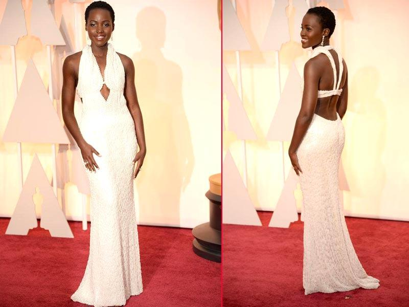 Lupita Nyong'o is graceful in white. (Twitter)