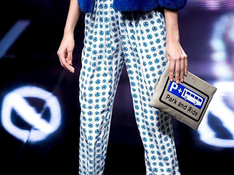London-themed accessories were on show as part of Anya Hindmarch's collection.