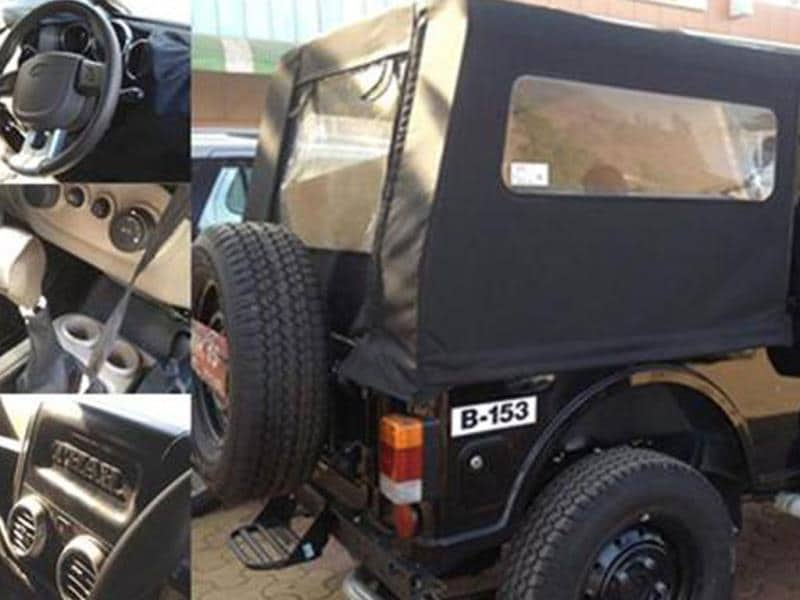 Upcoming Thar facelift spotted